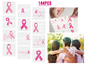 Breast Cancer Awareness Tattoos (144 pcs)