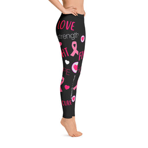 Words of Courage Breast Cancer Awareness Leggings