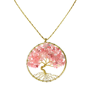 Breast cancer journey necklace
