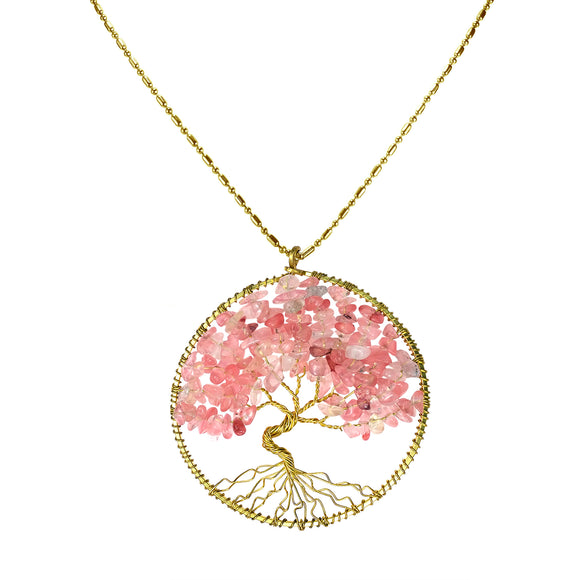 Tree of Life Breast Cancer Necklace