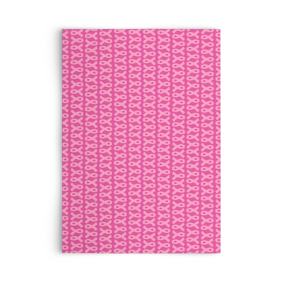 Pink Ribbons Set of Flat Greeting Cards