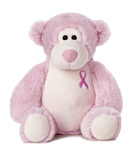Pink Breast Cancer Awareness Bear