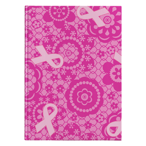 Pink Ribbon Pattern Notebook Journal - Hardcover