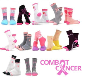 Special Holiday Gift Box : Assorted Breast Cancer Awareness Socks (12-pack)