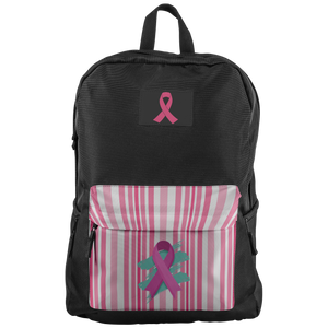 Green Swatch Pink Ribbon Backpack