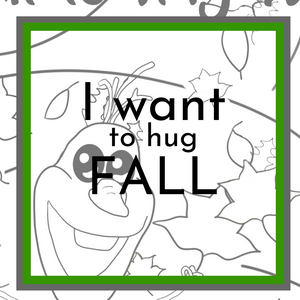 I want to hug Fall Coloring page