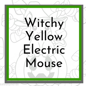 Witchy Electric Mouse Coloring Page