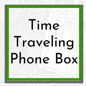Time Traveling Phone Box Coloring Page