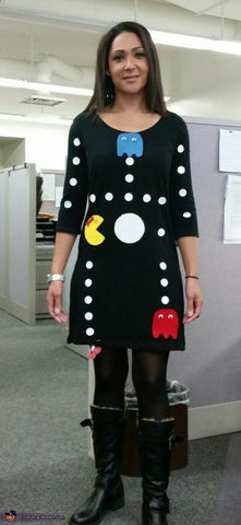 woman dressed up as pacman game