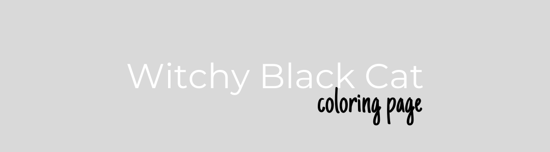 Witchy Black Cat Title Banner