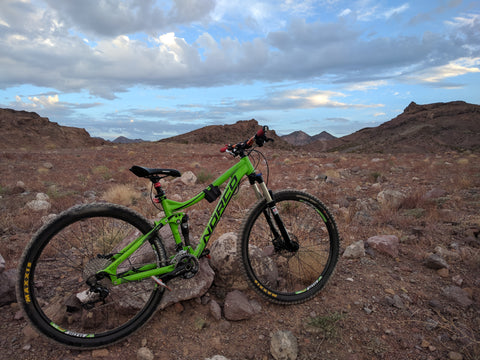 outdoor scene with mountain bike