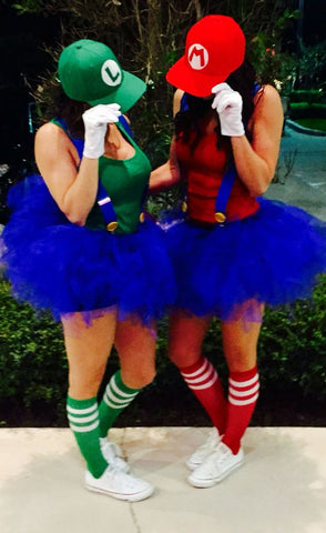mario and luigi halloween costume with tutus