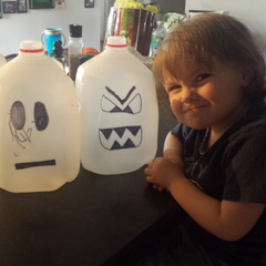 anneli with milk jug ghosts