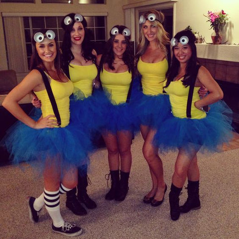 girls minions outfits with tutus