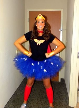 wonder woman costume with tutu