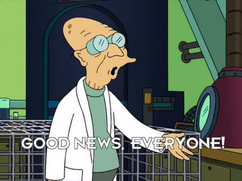 Professor Farnsworth saying good news everyone