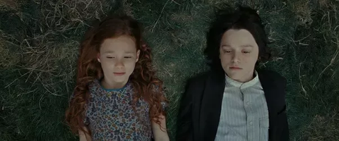lilly and severus flash back laying on the ground staring at the sky