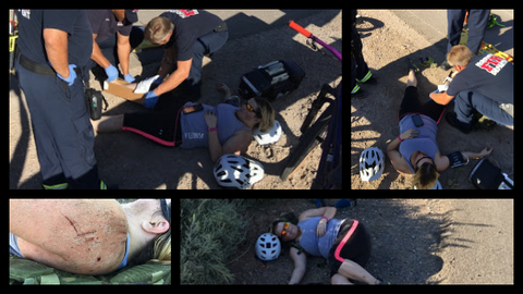 images from kari's bicycling accident
