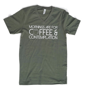 Coffee & Contemplation Unisex V-Neck Tee