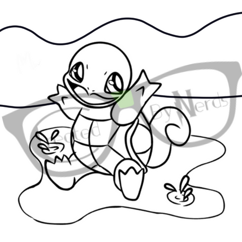 squirtle fan art coloring page drawing by created by nerds