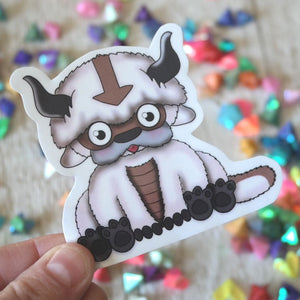 Fluffy Flying bison sticker