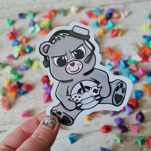 Gamer Bear Sticker