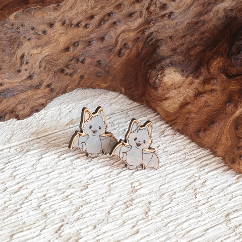 Cute Bat Stud Earrings