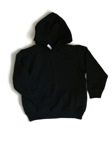 Toddler Black Pull-over Hoodie - Any CBN Design - No custom designs
