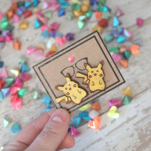 Chibi Electric Mouse Stud Earrings