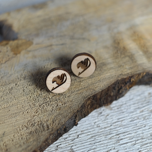 maple wood fairy tail earrings