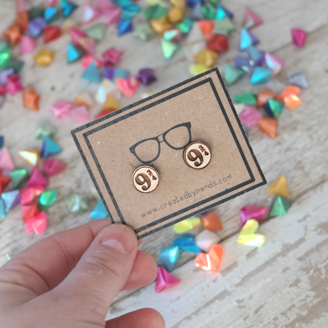 9 and 3/4  Maple Stud Earrings