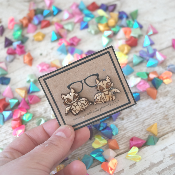 Baby Dragon Studded Earrings