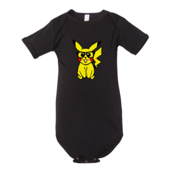 infant one piece nerdy pikachu fanart design