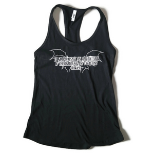 Black Razorback Tank Top with Tolkien quote