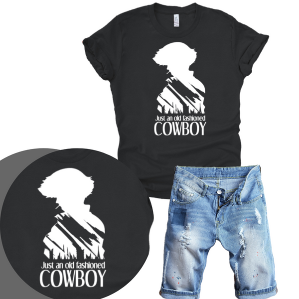 Old Fashioned Cowboy Unisex and Flowy Tee Shirt