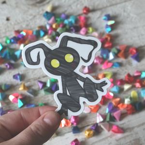Vinyl Sticker of sneaky shadow gamer creature