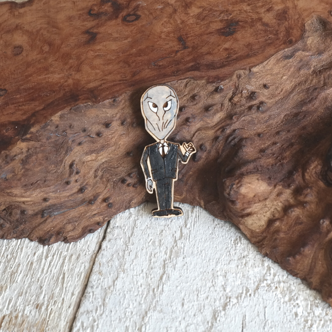 """The Silence"" Maple Pin"
