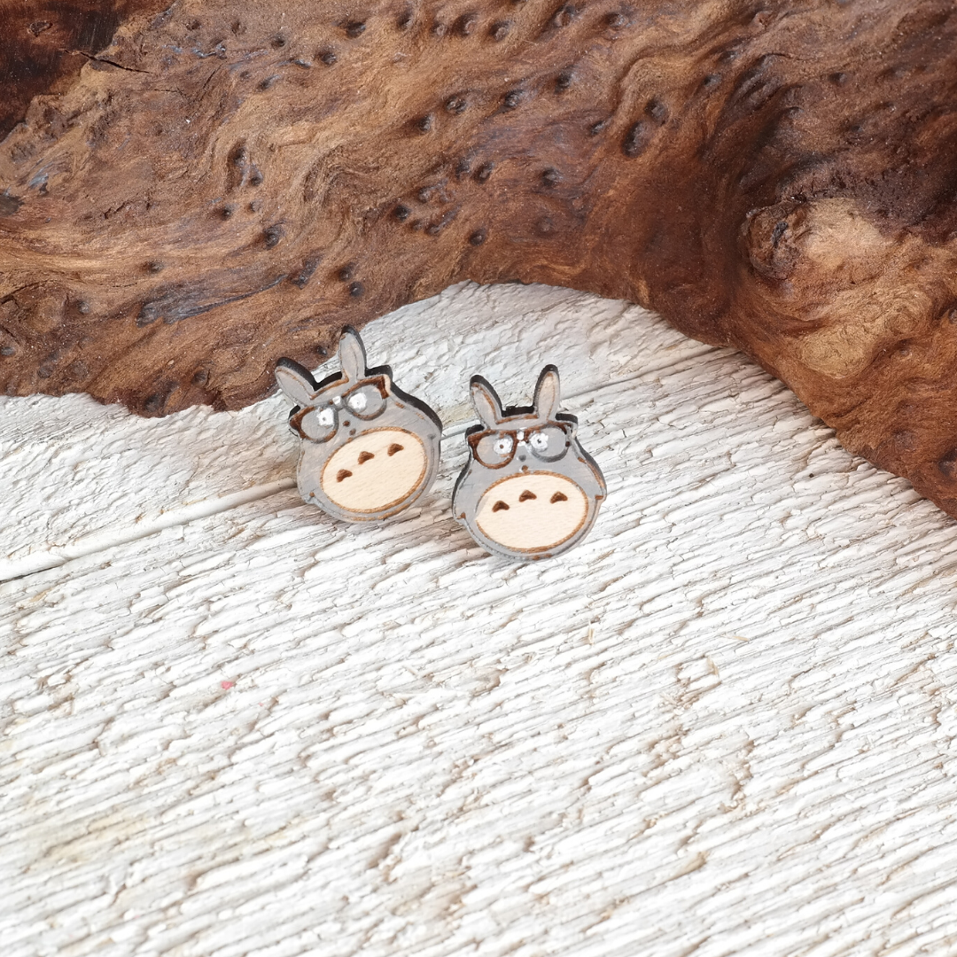 Nerdy Totoro Stud Earrings
