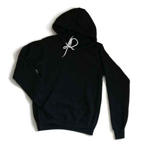 Unisex Black Pull-over Hoodie - Any CBN Design - No custom designs