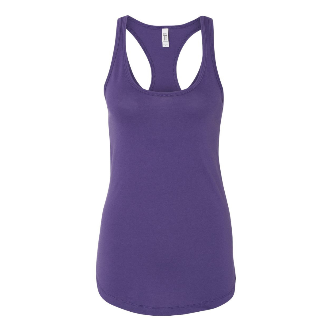Women's Racerback Purple Tank top - Any CBN Design - No custom designs