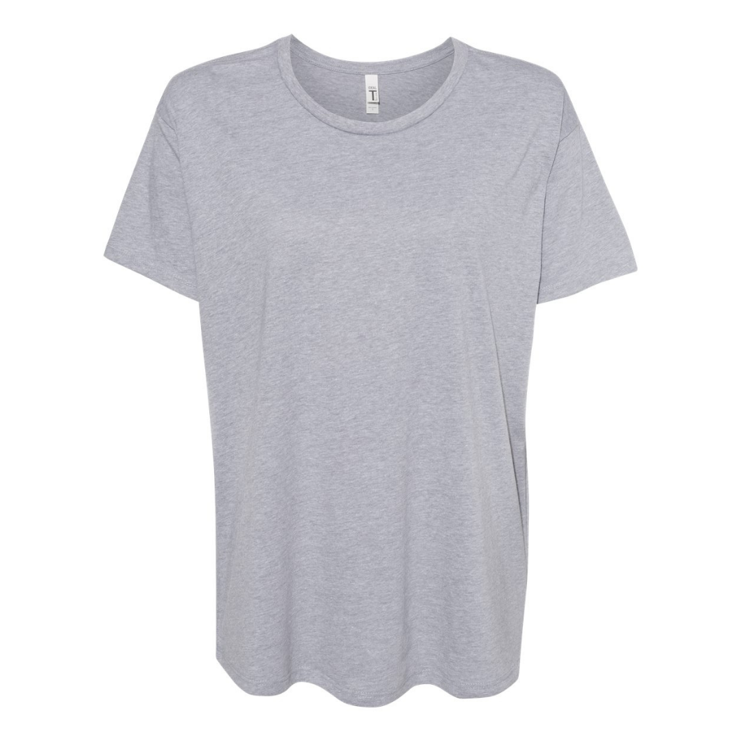 Women's Heather Grey Flowy Tee  - Any CBN Design - No custom designs