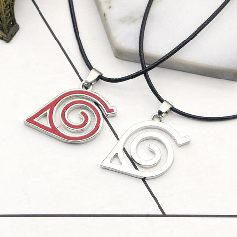 Naruto necklace, hidden leaf necklace