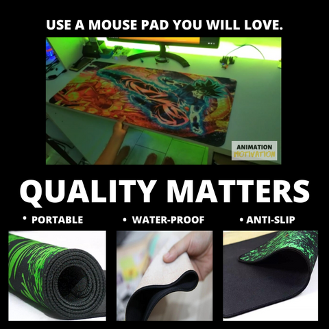 Zenitsu Flash Large Mouse Pad