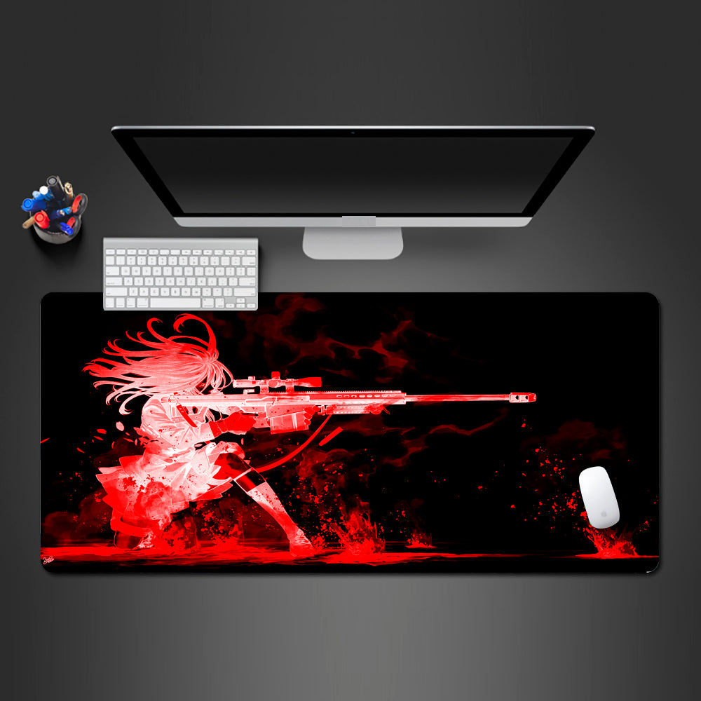 One Shot One Kill Large Mouse Pad
