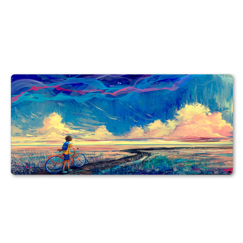 A Boys Journey Large Mouse Pad