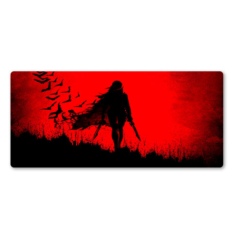 An Assassin in the Dark Large Mouse Pad