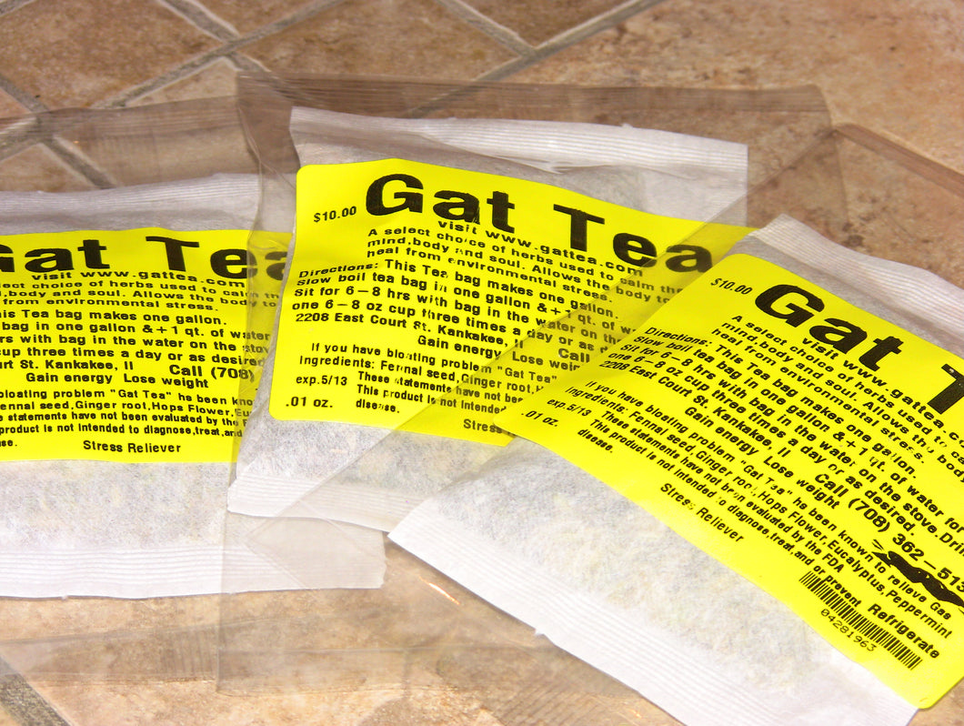 Gat Tea  Free Shipping $10.00 per bag Only $47.50 8 bags Big Deal today