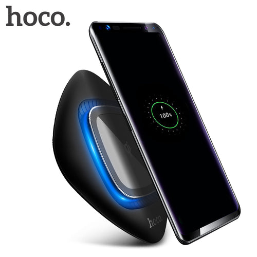 HOCO 10W Qi Wireless Charger for Samsung Galaxy S9 S8 Plus Fast Wireless Charging for iPhone X 8 USB Phone Charger Pad with LED