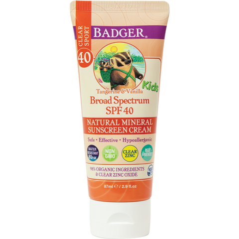 NEW - Badger SPF 40 Kids Clear Zinc Sunscreen