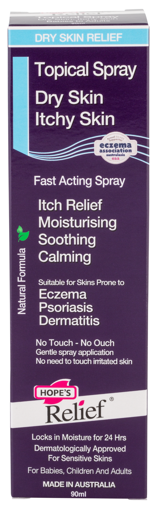 Hopes Relief Topical Spray - Natural Skin Hydration for Dry Skin